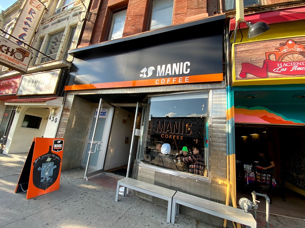 Manic Coffee | cafe | 426 College St, Toronto, ON M5T 1T3, Canada | 4169663888 OR +1 416-966-3888