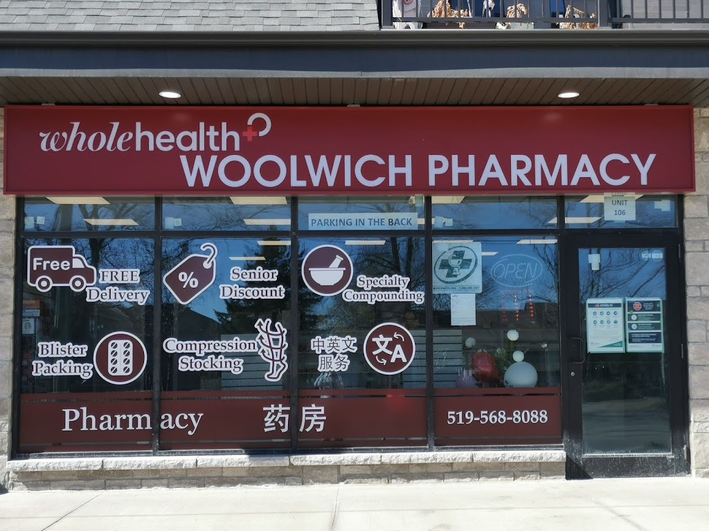 Whole Health Woolwich Compounding Pharmacy | health | 255 Woolwich St Unit 106, Waterloo, ON N2K 0C8, Canada | 5195688088 OR +1 519-568-8088