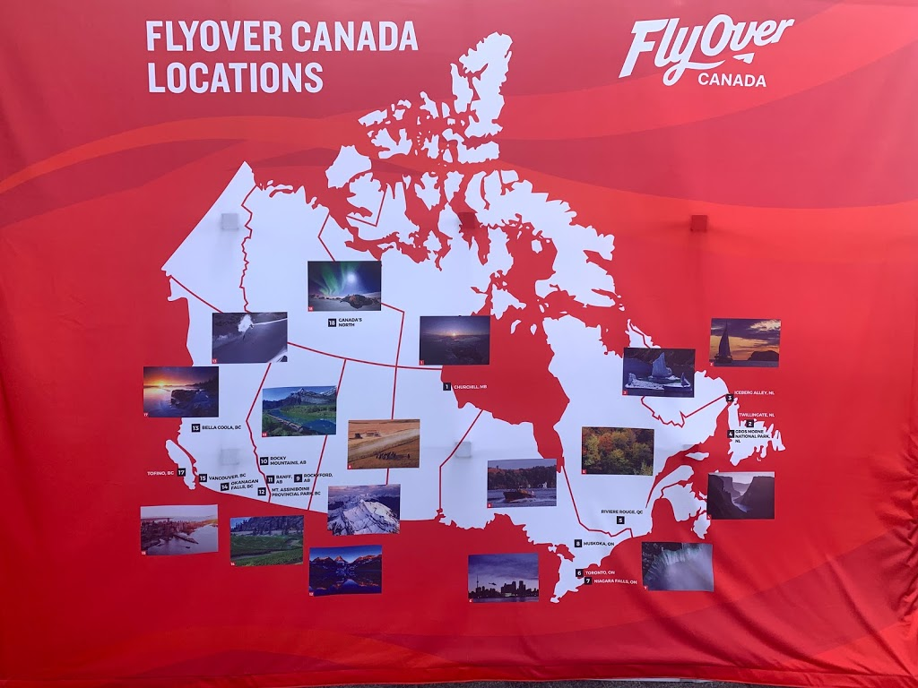 FlyOver Canada | point of interest | 201 - 999 Canada Place, Canada, Vancouver, BC V6C 3E1, Canada | 8554634822 OR +1 855-463-4822