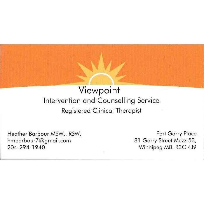 Viewpoint Intervention And Counselling | health | Academy Road, Winnipeg, MB R3N 1A1, Canada | 2042941940 OR +1 204-294-1940