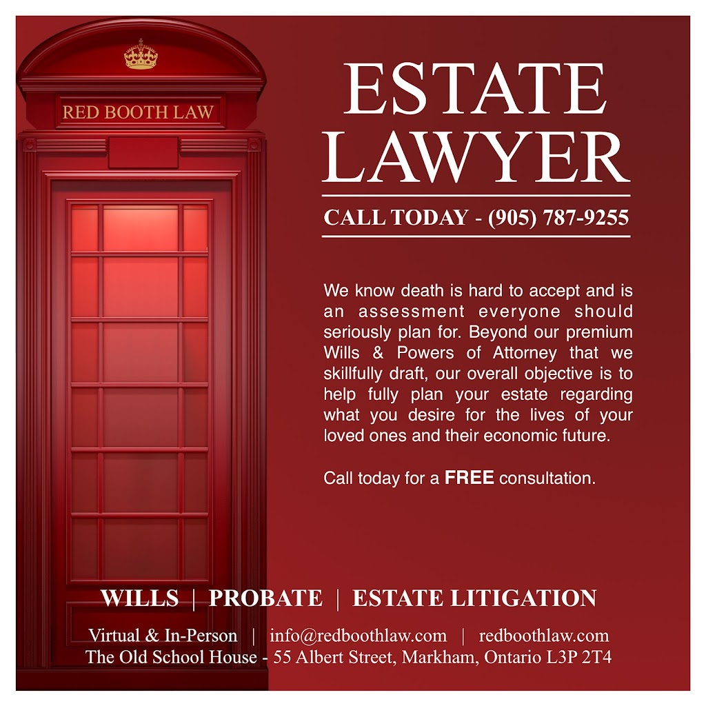 Red Booth Law   point of interest   55 Albert St, Markham, ON L3P 2T4, Canada   9057879255 OR +1 905-787-9255