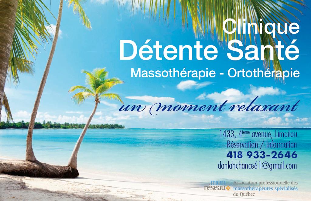 Clinique Détente Santé Limoilou | health | 1433 4e Avenue, Québec, QC G1J 3B9, Canada | 4189332646 OR +1 418-933-2646