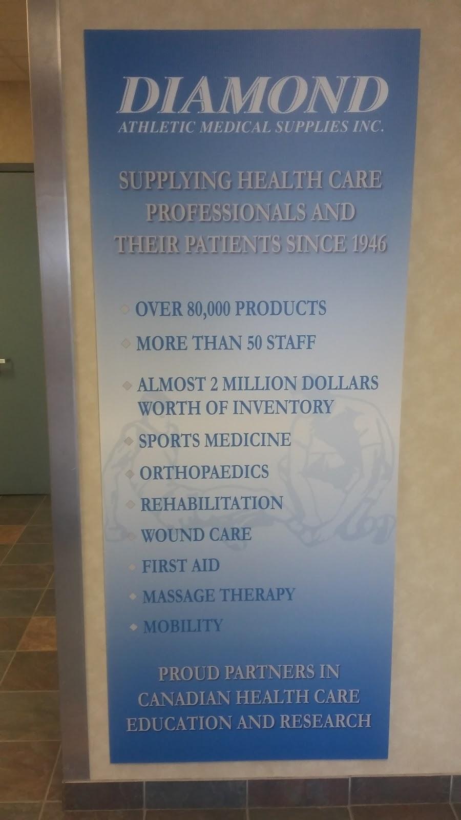 Diamond Athletic Medical Supplies Inc | health | 75 Poseidon Bay, Winnipeg, MB R3M 3E4, Canada | 2044887820 OR +1 204-488-7820