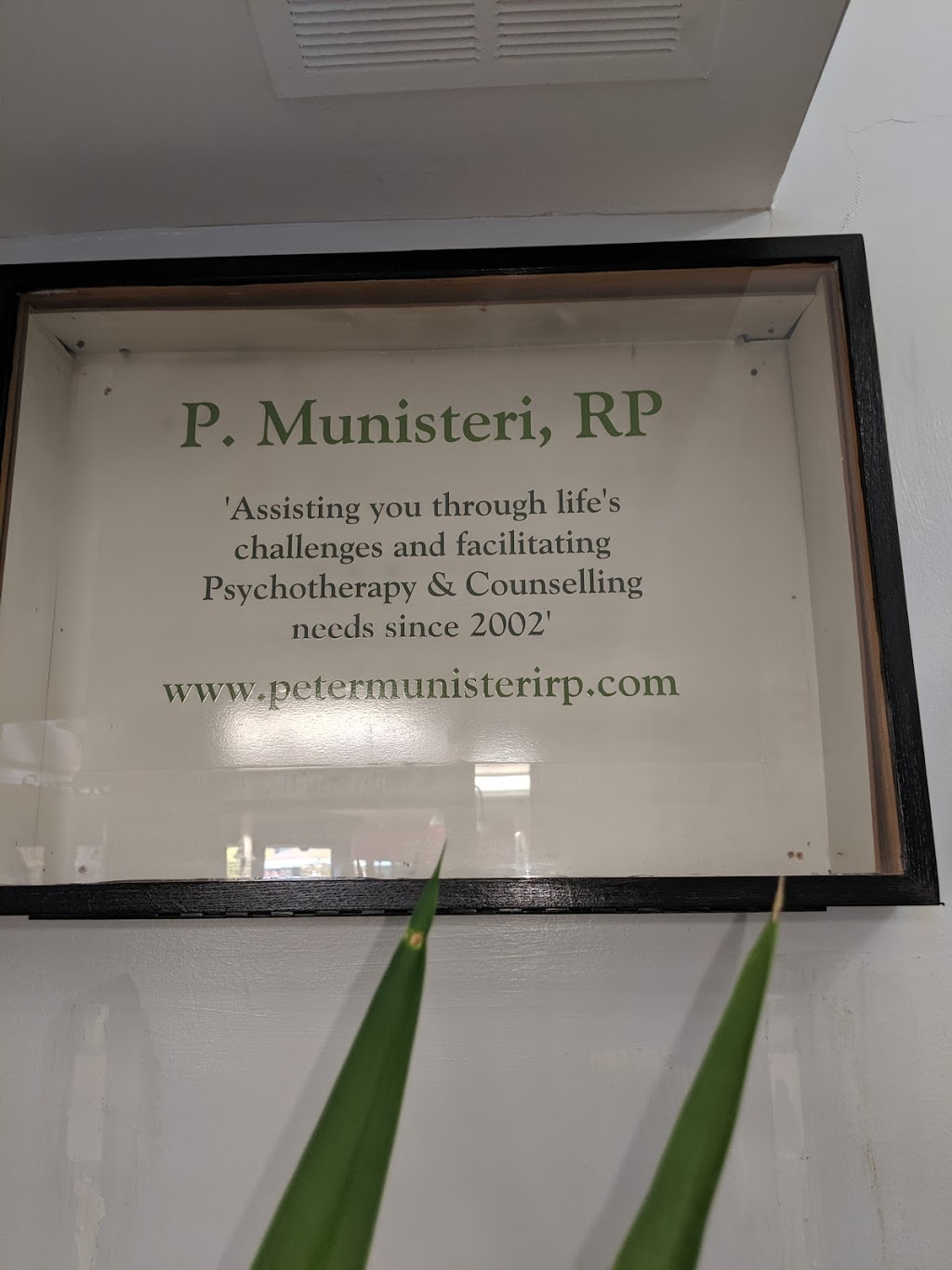 Peter Munisteri, RP Psychotherapy | health | 270 The Kingsway, Suite 1A South Offices Humbertown Centre, Toronto, ON M9A 3T7, Canada | 4166190083 OR +1 416-619-0083