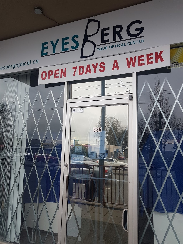 Eyesberg Optical & Optometry | health | 685 SE Marine Dr, Vancouver, BC V5X 2T5, Canada | 6043259534 OR +1 604-325-9534