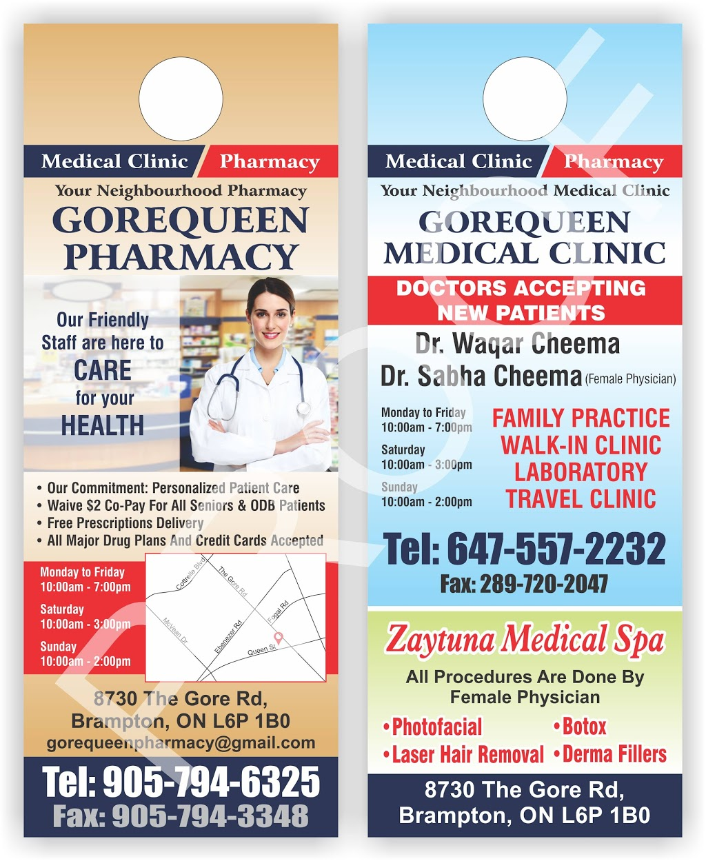 Gore Queen Medical and Cosmetic Clinic | doctor | 8730 The Gore Rd, Brampton, ON L6P 0B1, Canada | 6475572232 OR +1 647-557-2232