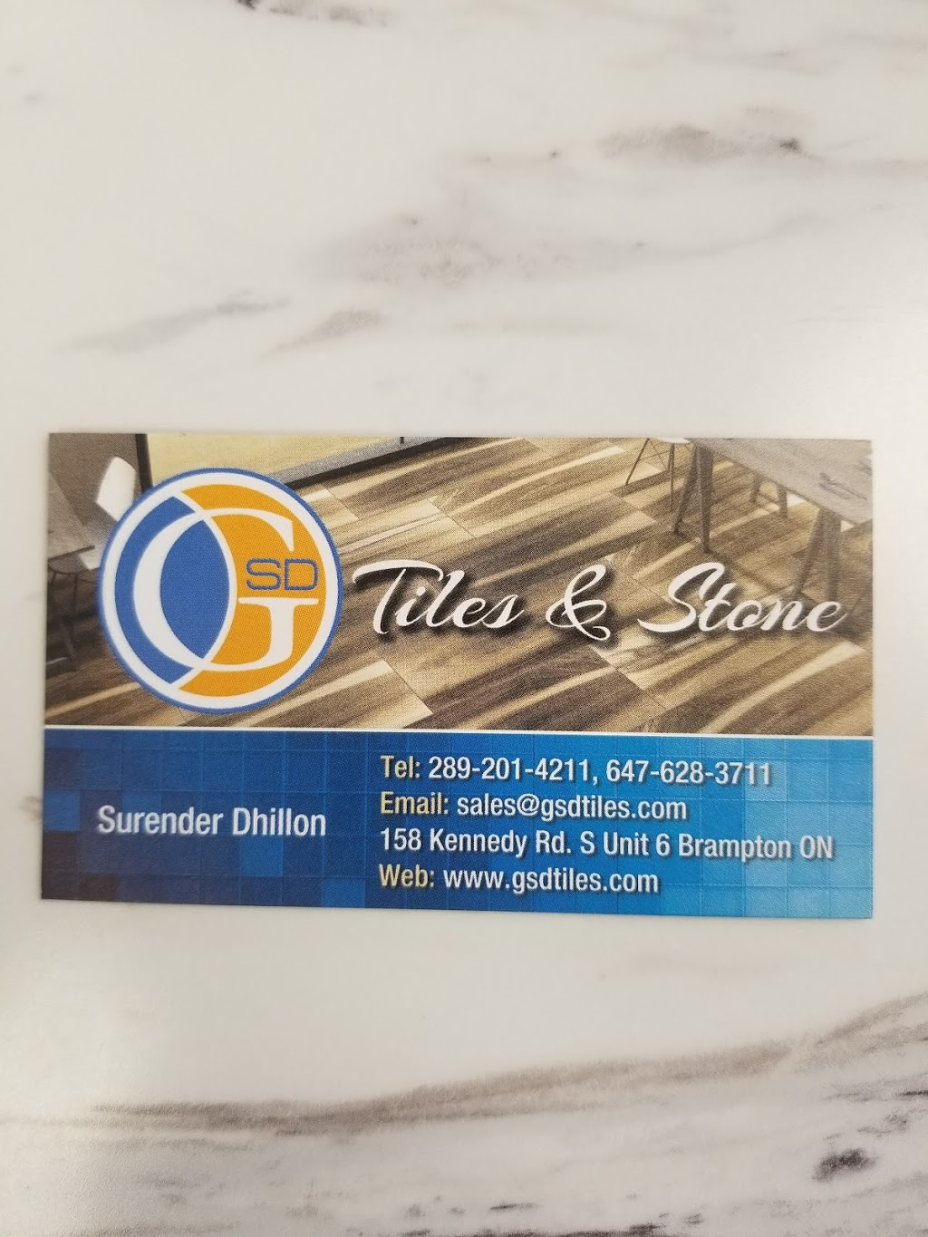 G S D Tiles And Stone   home goods store   158 Kennedy Rd S unit 6, Brampton, ON L6W 3G7, Canada   2892014211 OR +1 289-201-4211