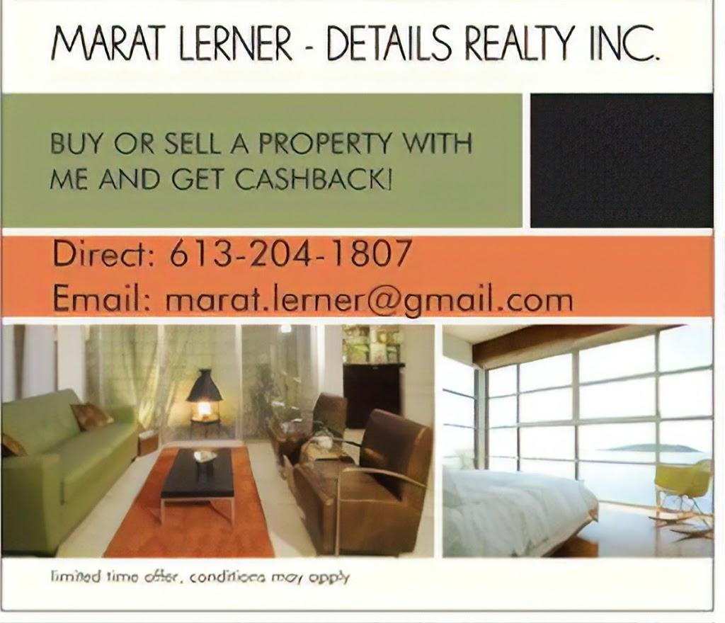 MARAT LERNER DETAILS REALTY | real estate agency | 311 Gracewood Crescent, Gloucester, ON K1T 0J7, Canada | 6132041807 OR +1 613-204-1807