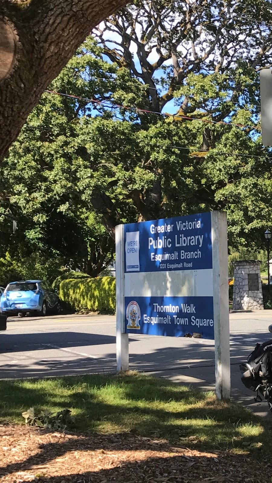 Greater Victoria Public Library - Esquimalt Branch   library   1231 Esquimalt Rd, Victoria, BC V9A 3P1, Canada   2509404875 OR +1 250-940-4875