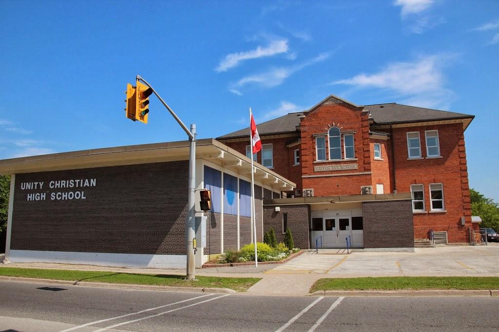 Unity Christian High School | school | 25 Burton Ave, Barrie, ON L4N 2R3, Canada | 7057926915 OR +1 705-792-6915