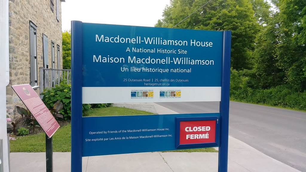 Macdonell-Williamson House | museum | 25 Rue Des Outaouais, Chute-à-Blondeau, ON K0B 1B0, Canada | 6136762228 OR +1 613-676-2228