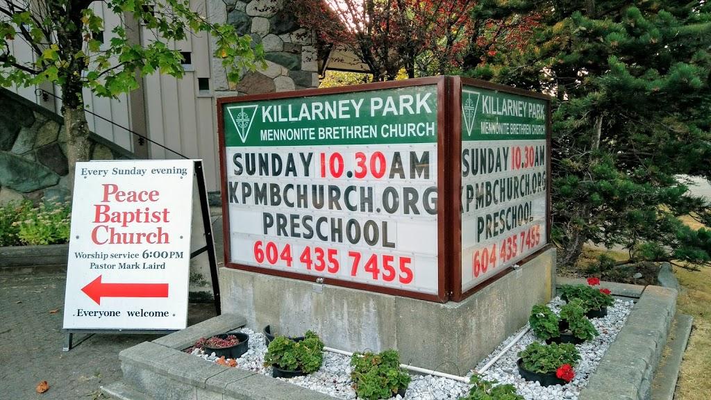 Killarney Park Mennonite Brethren Church | church | 6426 Kerr St, Vancouver, BC V5S 3C1, Canada | 6044379638 OR +1 604-437-9638