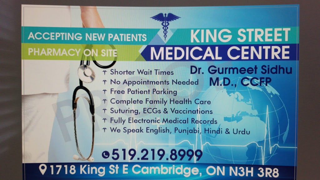 King Street Medical Centre , Cambridge | health | 1718 King St E, Cambridge, ON N3H 3R8, Canada | 5192198999 OR +1 519-219-8999