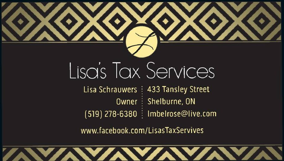 Lisas Tax Services & Bookkeeping | point of interest | 433 Tansley St, Shelburne, ON L9V 2S6, Canada | 5192786380 OR +1 519-278-6380