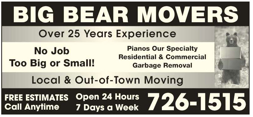 A Big Bear Movers Inc | moving company | 15 Prince of Wales St, St. Johns, NL A1C 4M8, Canada | 7097261515 OR +1 709-726-1515