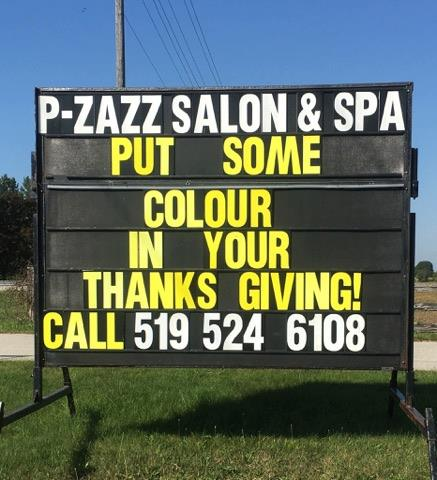 P-Zazz Salon & Spa   hair care   82192 Bluewater Hwy, Goderich, ON N7A 3Y3, Canada   5195246108 OR +1 519-524-6108