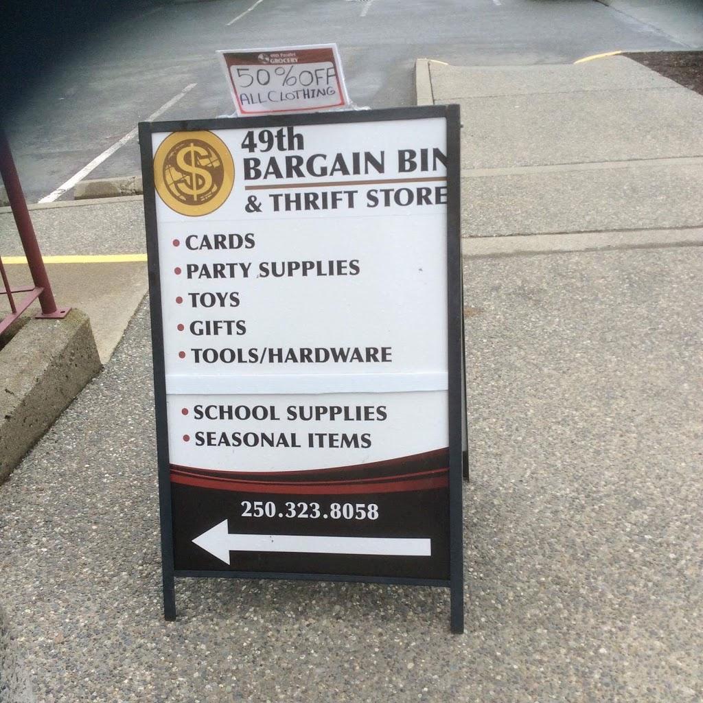 49th Bargain Bin and Thrift Shop   clothing store   1824 Cedar Rd, Nanaimo, BC V9X 1L6, Canada   2503238058 OR +1 250-323-8058