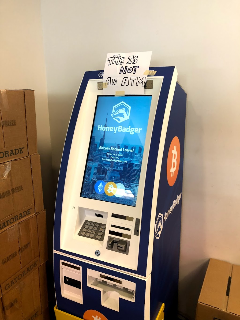 HoneyBadger Bitcoin ATM at Popkum On the Run   atm   52855 Yale Rd, Rosedale, BC V0X 1X1, Canada   6047871220 OR +1 604-787-1220