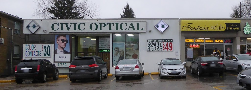 Civic Optical   health   1722 Lawrence Ave E, Scarborough, ON M1R 2Y1, Canada   4167502044 OR +1 416-750-2044