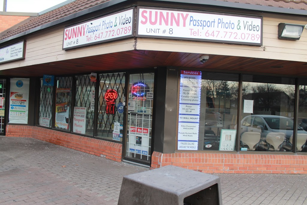 Sunny Passport Photos and Video | point of interest | 592 Rathburn Rd W unit 8, Mississauga, ON L5B 3A4, Canada | 6477720789 OR +1 647-772-0789