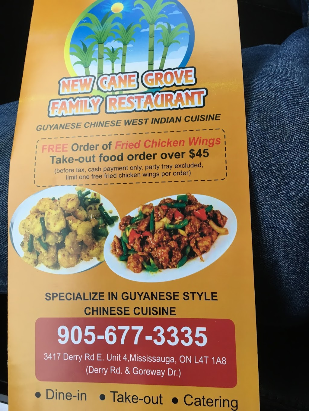 New Cane Grove Family Restaurant   restaurant   3417 Derry Rd E, Mississauga, ON L4T 1A8, Canada   9056773335 OR +1 905-677-3335
