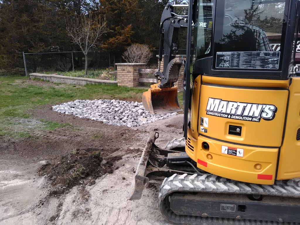 Martins Construction & Demolition Inc. | point of interest | 29 Dempsey Rd, Carrying Place, ON K0K 1L0, Canada | 6137077593 OR +1 613-707-7593