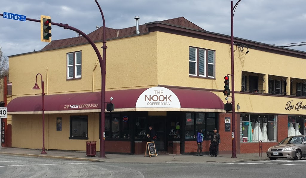 The Nook Coffee & Tea | cafe | 1002 Hillside Ave, Victoria, BC V8T 2A3, Canada | 2505902395 OR +1 250-590-2395