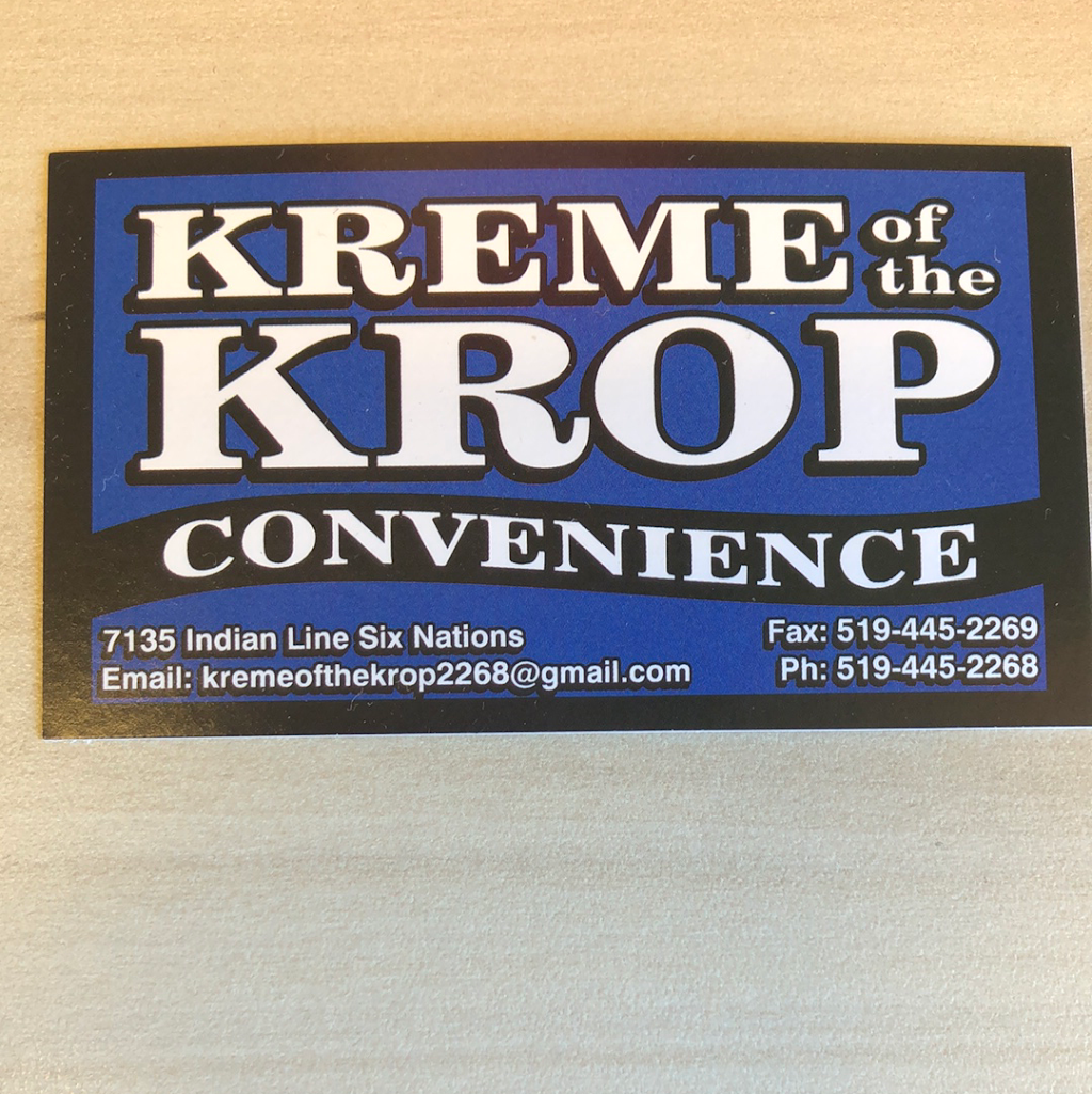 Kreme of the Krop Convenience | convenience store | 7135 Indian Line, Scotland, ON N3T 0G9, Canada | 5194452268 OR +1 519-445-2268