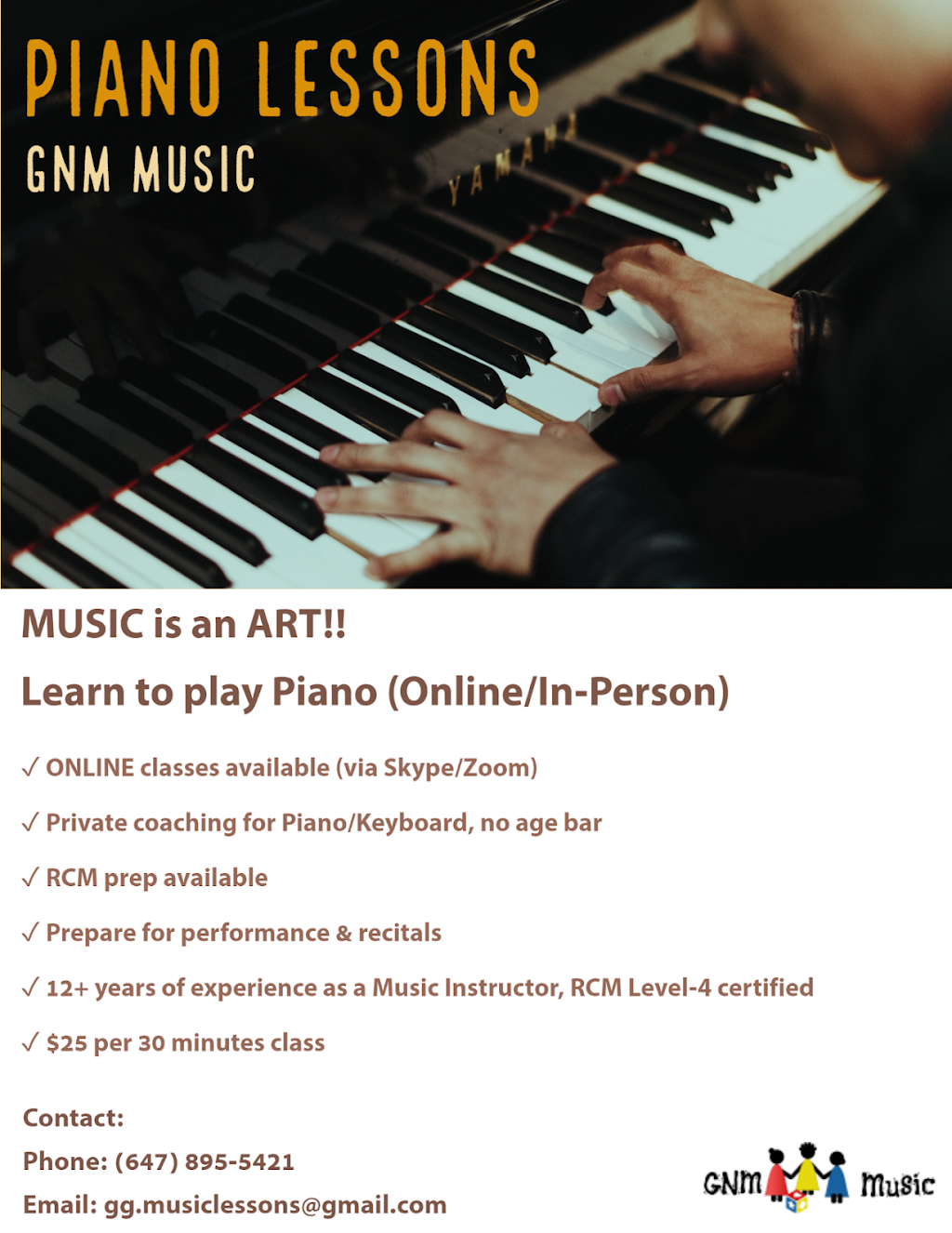 GNM MUSIC   school   22 Higbee Lane, Bowmanville, ON L1C 7H5, Canada   6478955421 OR +1 647-895-5421