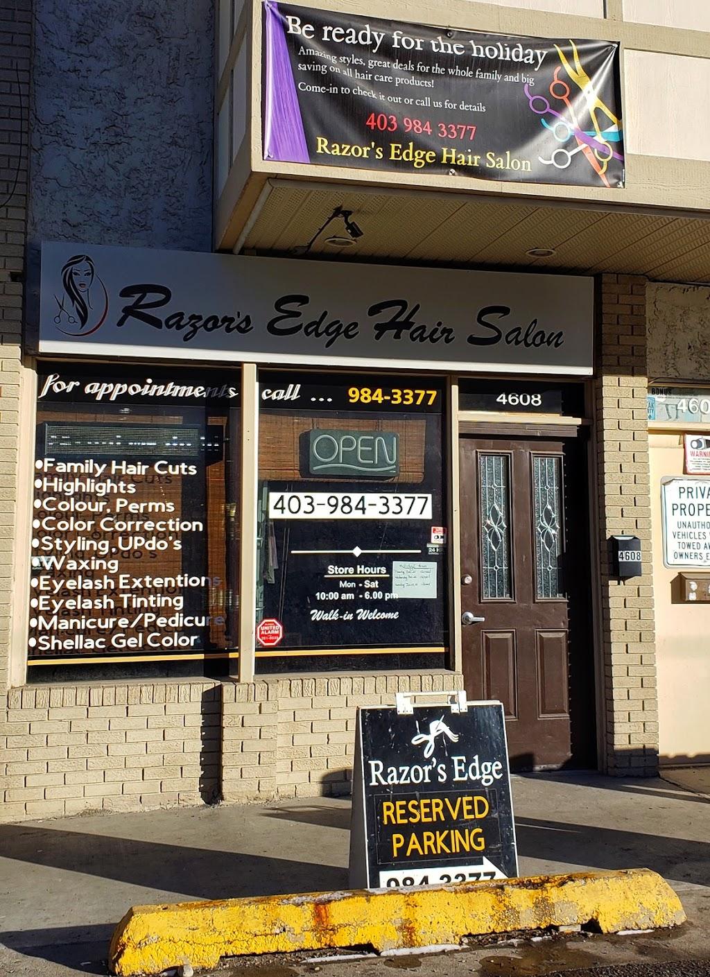 Razors Edge Hair Salon   hair care   4608 Bowness Rd NW, Calgary, AB T3B 0B3, Canada   4039843377 OR +1 403-984-3377