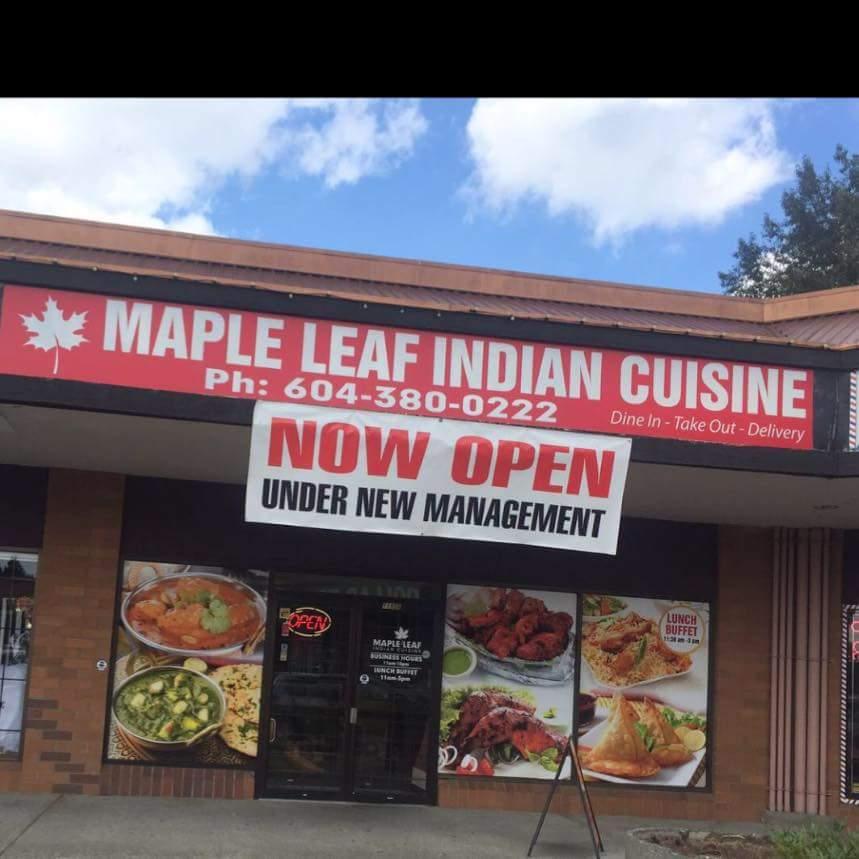 Maple Leaf Indian Cuisine | restaurant | 11956 207 St, Maple Ridge, BC V2X 1X6, Canada | 6043800222 OR +1 604-380-0222