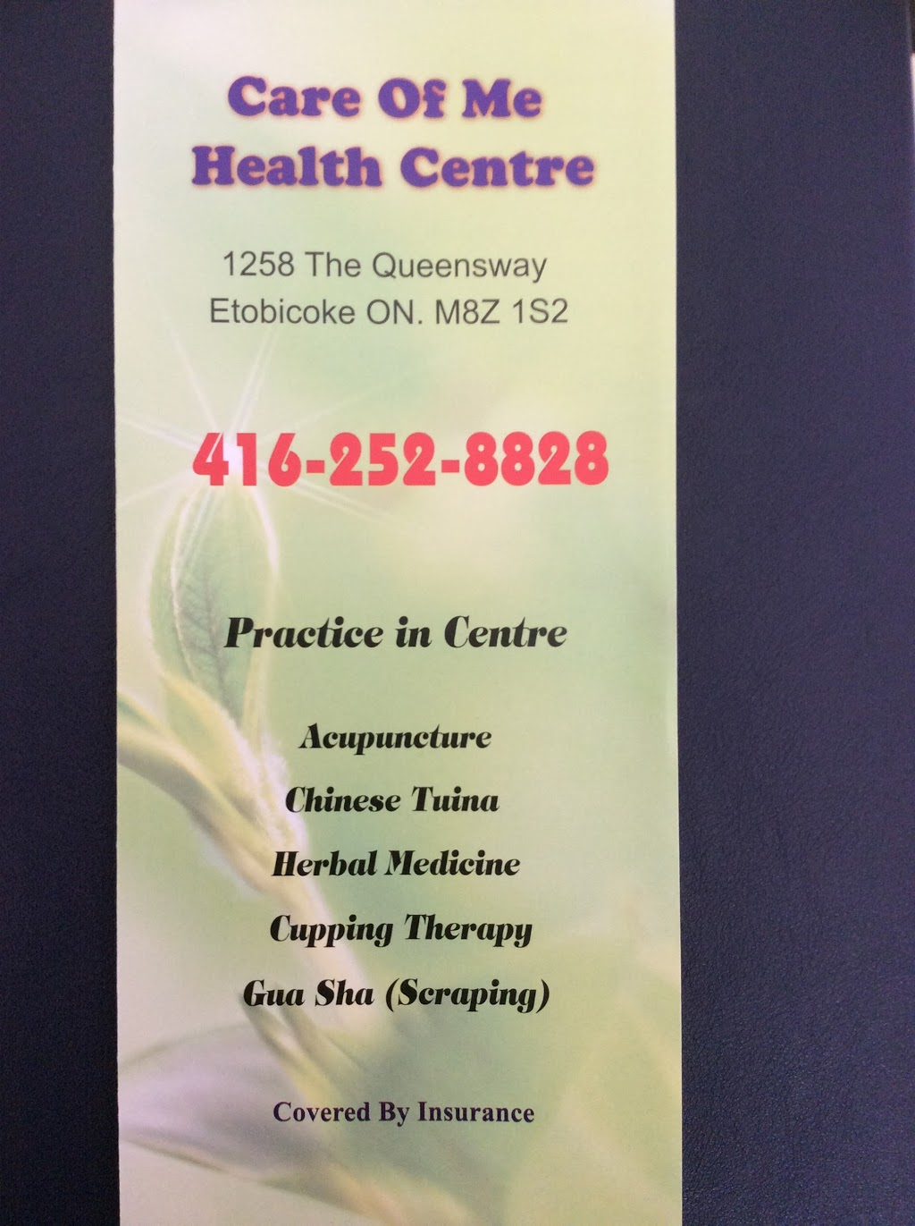 Care Of Me Health Centre | health | 1258 The Queensway, Etobicoke, ON M8Z 1S2, Canada | 4162528828 OR +1 416-252-8828