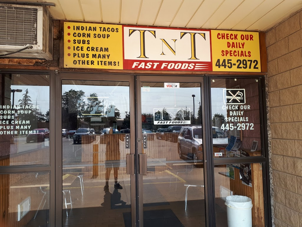 T-N-T Fast Food   cafe   1721 Chiefswood Rd, Ohsweken, ON N0A 1M0, Canada   5194452972 OR +1 519-445-2972