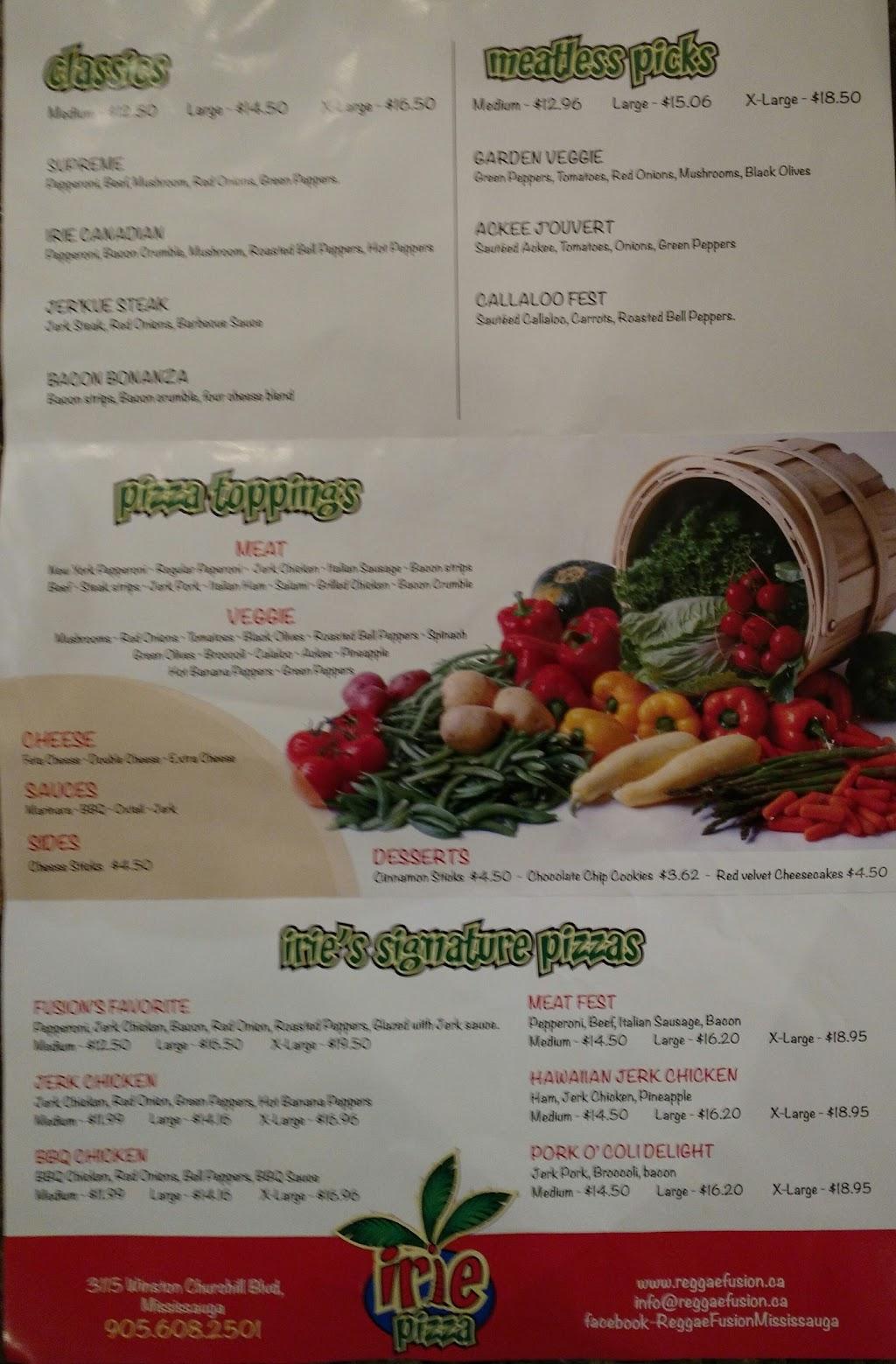 Irie Pizza | restaurant | 3115 Winston Churchill Blvd, Mississauga, ON L5L 5S3 Winston Churchill Blvd, Mississauga, ON L5L 5S3, Canada | 9056082501 OR +1 905-608-2501