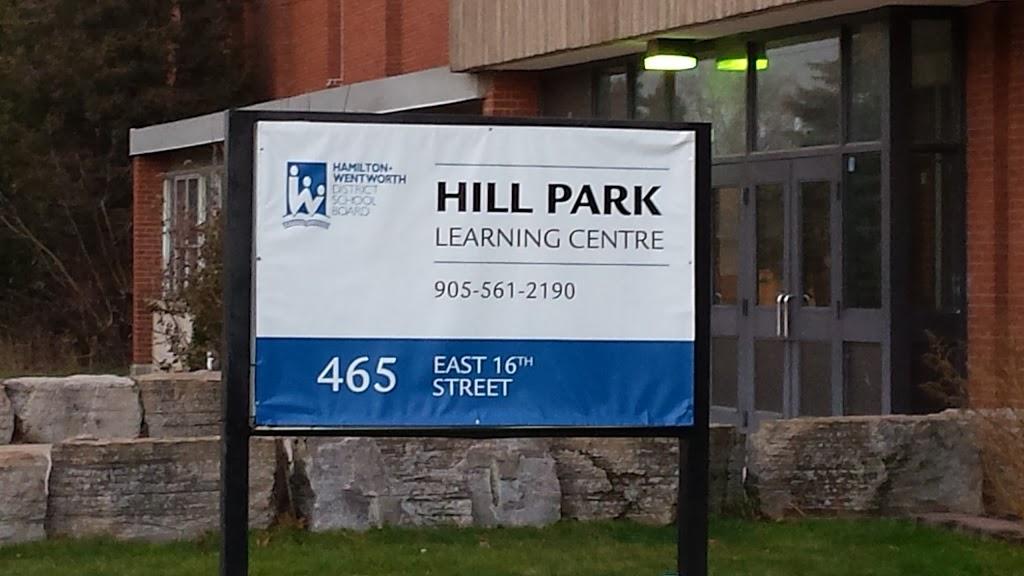 Hill Park Learning Centre   school   465 E 16th St, Hamilton, ON L9A 4K6, Canada   9055612190 OR +1 905-561-2190