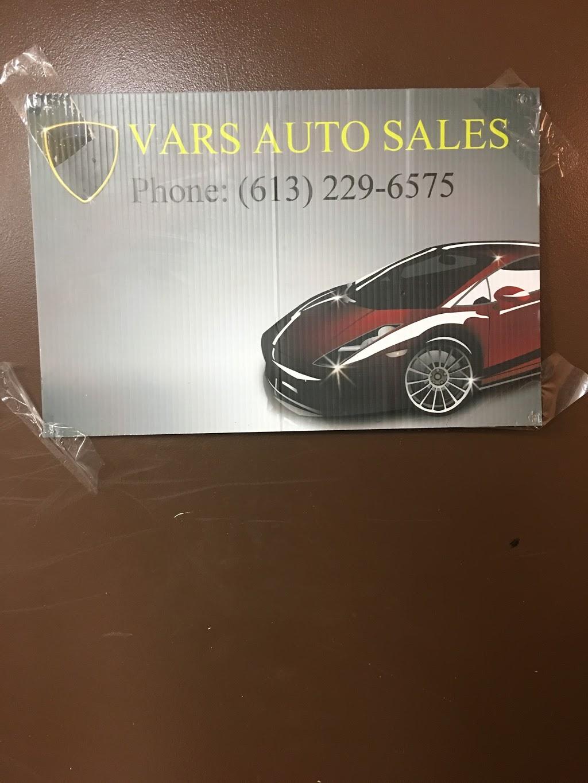Vars Auto Sales Ltd | car dealer | 6175 Rockdale Road, Vars, ON K0A 3H0, Canada | 8884848795 OR +1 888-484-8795