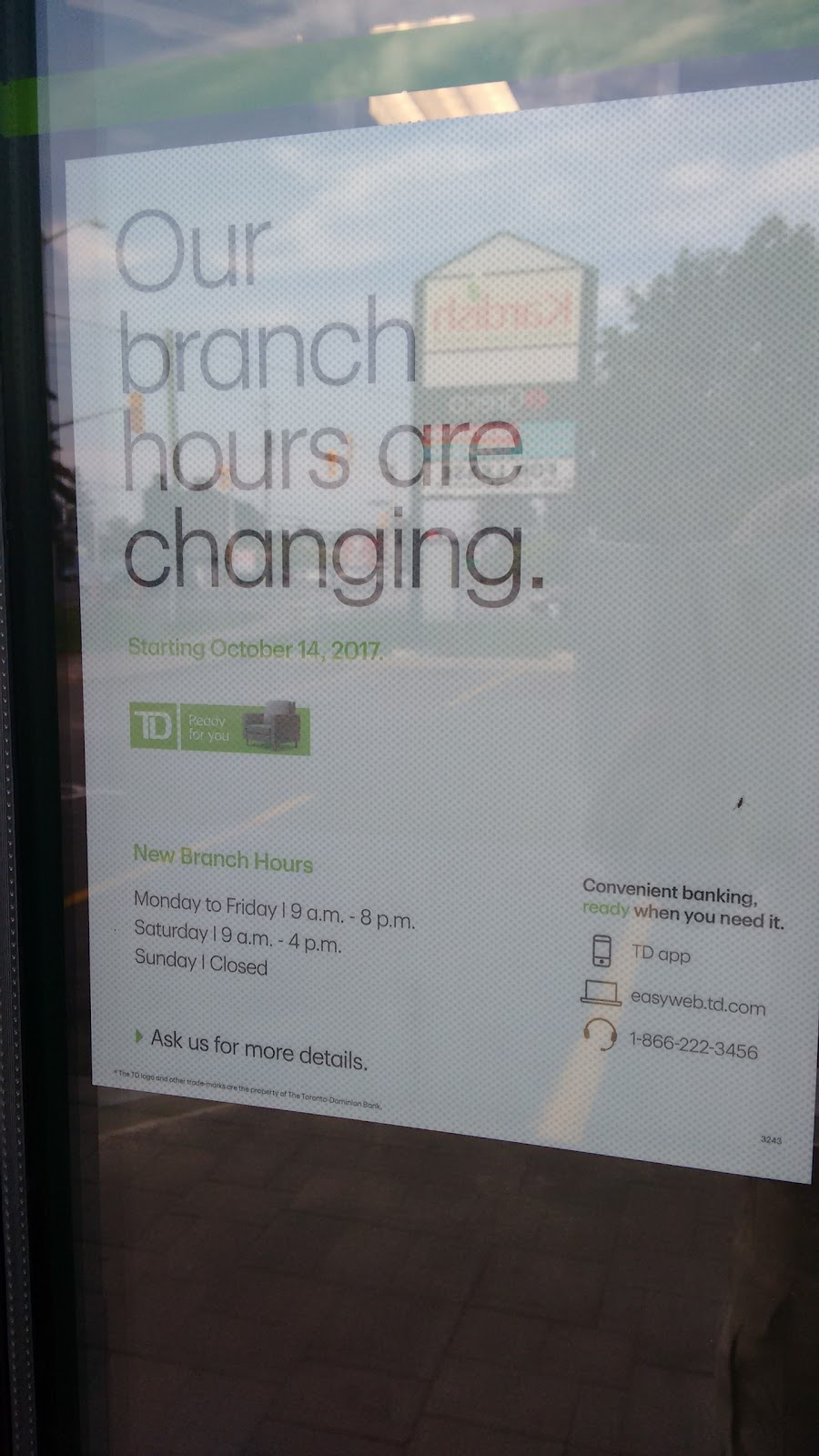 TD Canada Trust Branch and ATM | 2940 Bank St, Gloucester, ON K1T