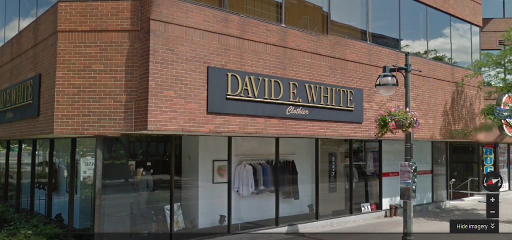 DAVID E. WHITE LONDON | clothing store | 171 Queens Ave, London, ON N6A 5J7, Canada | 5194323937 OR +1 519-432-3937