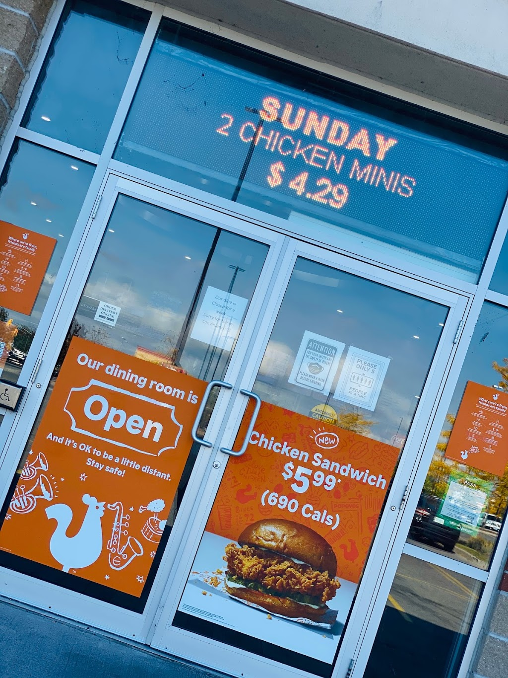 Popeyes Louisiana Kitchen Cobourg | restaurant | 75 Strathy Rd Unit 4, Cobourg, ON K9A 5W8, Canada | 9053723500 OR +1 905-372-3500