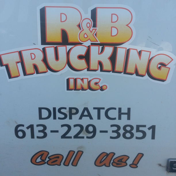 R & B Trucking Incorporated   moving company   4780 Frank Kenny Rd, Vars, ON K0A 3H0, Canada   6132293851 OR +1 613-229-3851