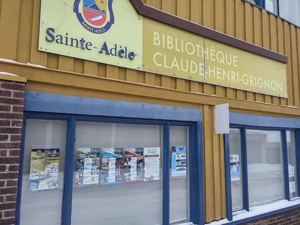 Bibliothèque Claude-Henri-Grignon (Sainte-Adèle) | library | 555 Boulevard de Sainte-Adèle #118, Sainte-Adèle, QC J8B 1A7, Canada | 45022929217238 OR +1 450-229-2921 ext. 7238